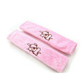 Cheapest Cartoon Winnie the Pooh Velvet Automotive Seat Safety Belt Covers Car Decoration 2pcs - Pink