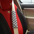 Cheapest Gucci Velvet Automotive Seat Safety Belt Covers Car Decoration 2pcs - Gray
