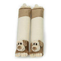 Classic Cartoon Niba dog Velvet Automotive Seat Safety Belt Covers Car Decoration 2pcs - Beige