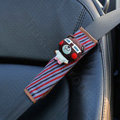 Cute Cartoon Carinono Bear Velvet Automotive Seat Safety Belt Covers Car Decoration 2pcs - Coffee