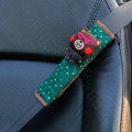 Cute Cartoon Carinono Bear Velvet Automotive Seat Safety Belt Covers Car Decoration 2pcs - Green
