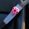Cute Cartoon Carinono Bear Velvet Automotive Seat Safety Belt Covers Car Decoration 2pcs - Pink