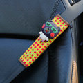 Cute Cartoon Carinono Bear Velvet Automotive Seat Safety Belt Covers Car Decoration 2pcs - Yellow