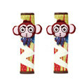 Cute Cartoon Carinono Monkey Velvet Automotive Seat Safety Belt Covers Car Decoration 2pcs - Yellow+Red
