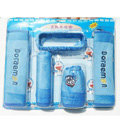 Cute Cartoon Doraemon Velvet Car Inner Automotive Decoration Sets 5pcs - Blue