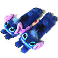 Discount Stitch Velvet Automotive Seat Safety Belt Covers Car Decoration 2pcs - Blue