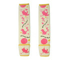 Fun Winnie the Pooh Velvet Automotive Seat Safety Belt Covers Car Decoration 2pcs - Rose
