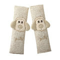 Top Quality Cartoon Niba dog Flax Automotive Seat Safety Belt Covers Car Decoration 2pcs - Beige
