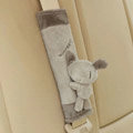Unique Cartoon Rice soup dog Velvet Automotive Seat Safety Belt Covers Car Decoration 2pcs - Gray
