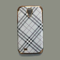 Burberry leather Case Hard Back Cover for Samsung Galaxy S5 i9600 - White