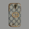 GUCCI leather Case Hard Back Cover for Samsung Galaxy S5 i9600 - Gray