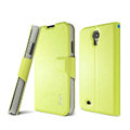 IMAK R64 lines leather Case support Holster Cover for Samsung Galaxy S5 i9600 - Green