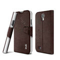 IMAK Squirrel lines leather Case support Holster Cover for Samsung Galaxy S5 i9600 - Coffee