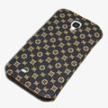 LV LOUIS VUITTON leather case button Holster cover for Samsung Galaxy S5 i9600 - Coffee