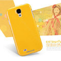 Nillkin Colourful Hard Case Skin Cover for Samsung Galaxy S5 i9600 - Yellow (High transparent screen protector)