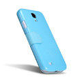 Nillkin Fresh leather Case button Holster Cover Skin for Samsung Galaxy S5 i9600 - Blue