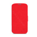 Nillkin Fresh leather Case button Holster Cover Skin for Samsung Galaxy S5 i9600 - Red