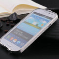 Swarovski Bling Metal Bumper Frame Case Cover for Samsung Galaxy S5 i9600 - Silver