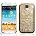 Swarovski Bling Metal Diamond Case Cover for Samsung Galaxy S5 i9600 - Gold