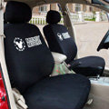 Classic Cartoon Mickey Mouse Universal Cotton Cloth Auto Car Seat Cover 10pcs Sets - Black