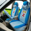 Classic Cartoon Universal Ultraman Plush Velvet Auto Car Seat Cover 18pcs Sets - Blue