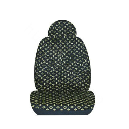 buy wholesale classic lv louis vuitton universal auto car seat cover set cotton 10pcs gold. Black Bedroom Furniture Sets. Home Design Ideas