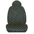 Classic LV LOUIS VUITTON Universal Auto Car Seat Cover Set Cotton 10pcs - Gold