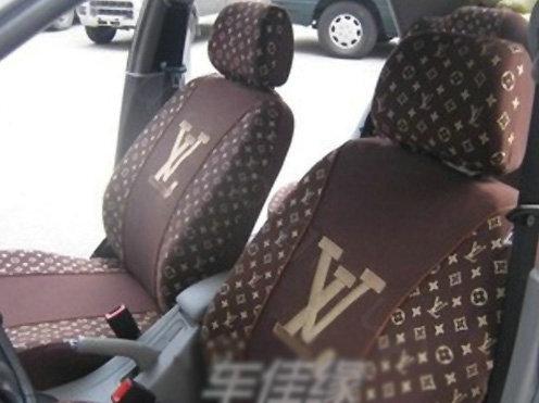 buy wholesale high quality lv louis vuitton universal auto car seat cover sets cotton velvet. Black Bedroom Furniture Sets. Home Design Ideas