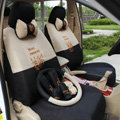 Cool Cartoon Transformer Decepticon Universal Automobile Car Seat Cover Sandwich 18pcs Sets - Beige