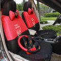 Cute Cartoon Transformer Decepticon Universal Automobile Car Seat Cover Sandwich 18pcs Sets - Red