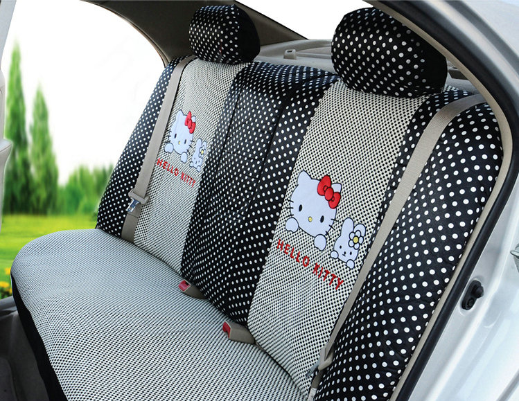 buy wholesale cute oulilai hello kitty polka dot universal automobile car seat cover sandwich. Black Bedroom Furniture Sets. Home Design Ideas