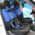 Discount Cartoon Transformer Decepticon Universal Automobile Car Seat Cover Sandwich 18pcs Sets - Blue