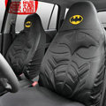 High Quality Cartoon Batman Universal Cotton Cloth Auto Car Seat Cover 10pcs Sets - Black