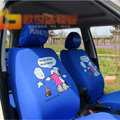 High Quality Snoopy Cartoon Universal Auto Car Seat Cover Sets Cotton Cloth 10pcs - Blue