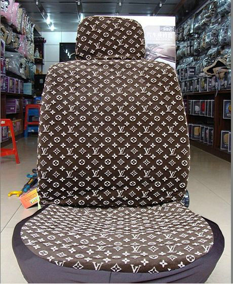 buy wholesale unique lv louis vuitton universal auto car seat cover sets cotton velvet 10pcs. Black Bedroom Furniture Sets. Home Design Ideas