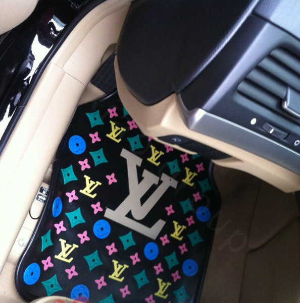 buy wholesale best lv lattice louis vuitton universal automobile carpet car floor mats rubber. Black Bedroom Furniture Sets. Home Design Ideas