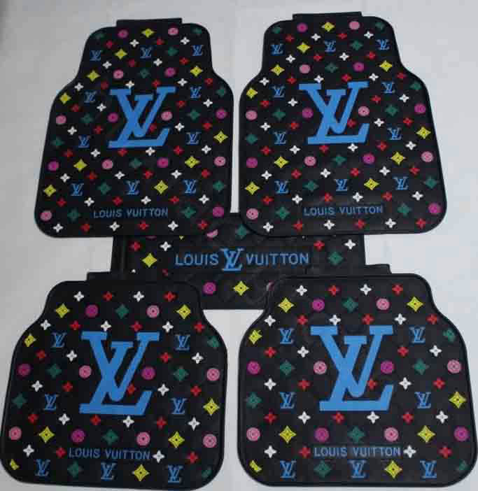 buy wholesale best lv louis vuitton universal automotive carpet car floor mats rubber 5pcs sets. Black Bedroom Furniture Sets. Home Design Ideas