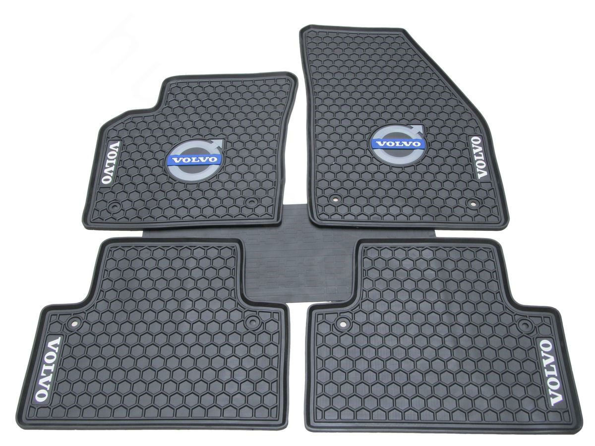 front product universal rubber duty fit metallic mats rear set red full for design metal cars mat car bdk piece floor heavy