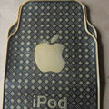 Classic Apple iPod Cute Universal Automotive Carpet Car Floor Mats Rubber 5pcs Sets - Yellow