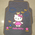 Classic Hello Kitty Bear Cartoon Universal Automotive Carpet Car Floor Mats Rubber 5pcs Sets - Yellow