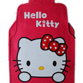 Classic Hello Kitty Cartoon Cute Universal Auto Carpet Car Floor Mats Rubber 5pcs Sets - Red