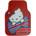 Classic Hello Kitty Cartoon Universal Automobile Carpet Car Floor Mats Rubber 5pcs Sets - Red