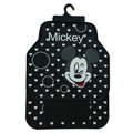 Classic Mickey Mouse Heart Cartoon Universal Automotive Carpet Car Floor Mats Rubber 5pcs Sets - Black