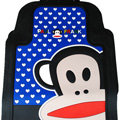 Classic Paul Frank Cartoon Cute Universal Auto Carpet Car Floor Mats Rubber 5pcs Sets - Blue