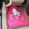 Cute Hello Kitty Cartoon Pretty Universal Automobile Carpet Car Floor Mats Rubber 5pcs Sets - Pink