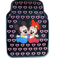Cute Mickey Minnie Mouse Cartoon Heart Universal Auto Carpet Car Floor Mats Rubber 5pcs Sets - Pink