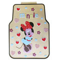 Cute Minnie Mouse Cartoon Universal Automotive Carpet Car Floor Mats Rubber 5pcs Sets - Beige