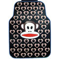 Cute Paul Frank Cartoon Heart Universal Automobile Carpet Car Floor Mats Rubber 5pcs Sets - Black