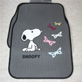 Cute Snoopy Cartoon Butterfly Universal Automobile Carpet Car Floor Mats Rubber 5pcs Sets - Gray