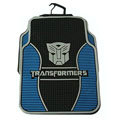Cute Transformers Autobot Cartoon Universal Auto Carpet Car Floor Mats Rubber 5pcs Sets - Blue